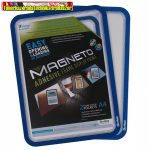 Mágneses tasak, öntapadós háttal, A4, TARIFOLD Magneto, kék