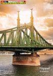 Spirálfüzet A4 80lap KOCKÁS SilverBall Budapest nappal (A/4)