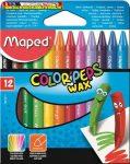 Zsírkréta, MAPED Color Peps Wax, 12 különböző szín (12db/cs)