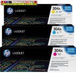 Eredeti Hp CC531A, CC532A, CC533A color tonerek (color  festékkazetta Color Laserjet CM2320, CP2025 nyomtatókhoz (2800 old.) 304A