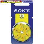 Sony 10 Hallókészülék Elem PR70