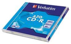 Verbatim CD-R 700 MB, 80min, 52x, Normál tok Crystal (DataLifePlus - AZO)