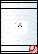 Rayfilm Univerzális címke (etikett) 99,1x34 mm 16címke/lap 100lap/dob (R0ECO 0806A)
