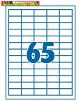 Etikett 38,1x21,2mm 65címke/lap SilverBall <100lap/dob>(38x21)