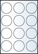 Rayfilm Univerzális címke (etikett) körcímke 60 mm(r) 12címke/lap 20lap/dob (R0100 6060KC)