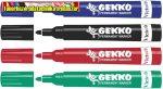 VICTORIA Gekko Alkoholos marker készlet, 1-3 mm, kúpos,  4 különböző szín/cs