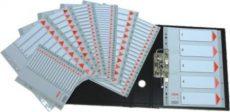 Esselte 100104- műanyag regiszter 1-6. A/4