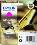 Epson 16  T1623 magenta eredeti tintapatron C13 T16234010 3,1ml