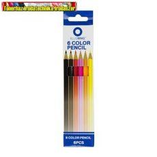 BLUERING színesceruza készlet 6db-os (színes ceruza)