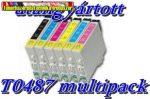 01-0481 Epson T0487 multipack utángyártott
