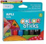 Tempera stift készlet, APLI Kids, 6 különböző szín (6x10gr)