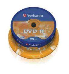Verbatim DVD-R 4,7GB, 16x, hengeren (AZO) 25db/henger