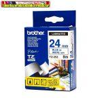 Brother TZ szalagok, TZ-253 fehér/kék 24mm (TZe-253)
