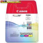 Canon CLI-521 multipack (C,M,Y)  eredeti tintapatron (CLI521,iP3600,iP4600,MP540,MP620,MP630,MP980)