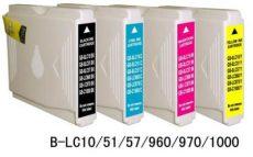 Brother LC970 utángyártott tintapatron (Bk.,C,M,Y) LC 970