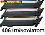 Samsung CLP-360,CLP-365,CLX-3305  color UTÁNGYÁRTOTT  tonerek (406,CLP360,CLP365,CLX3305,C406,M406,Y406) 406S