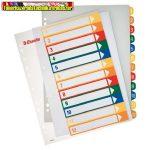 Esselte 100214 nyomtatható regiszter, A4, 1-12 részes