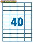 Etikett 52,5x29,7mm 40címke/lap SilverBall <100lap/dob>