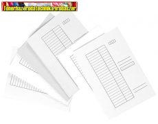Iratgyűjtő papír (pólyás dosszié) fehér A/4 Victoria