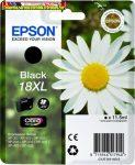 Epson 18XL T1811 black eredeti tintapatron 470 old(5%) 11,5ml C13T18114010