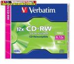 Verbatim CD-RW 700 MB, 8-12x újraírható normál tokban