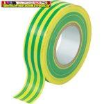 PVC szigetelőszalag 20m x 19mm zöld-sárga