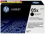 Eredeti Hp CE505X toner (Nagykapacitású fekete festékkazetta Laserjet P2055 sorozat nyomtatóihoz (6500 old.)(CE505X,CE505XC)