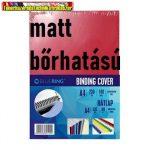 Bluering  hátlap bőrhatású matt karton piros 100 lap/cs 230gr/m2