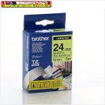Brother TZ szalagok, TZ-C51 fluor sárga/fekete 24mm (TZe-C51)