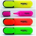 Kores szövegkiemelő sárga,rózsaszín,naracssárga,zöld színben