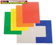 Színes papír iratgyűjtő A/4 (pólyás dosszié)