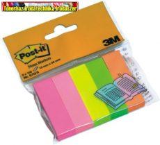 Post-it 670/5 neon jelölőlap (670-5,6705)  papír, 5x100 lap, 15x50 mm,