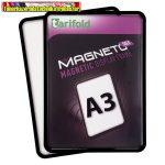 Mágneses tasak, mágneses háttal, A3, TARIFOLD Magneto Solo, fekete