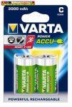 VARTA Power Accu, Tölthető elem, C baby, 2x3000 mAh, előtöltött